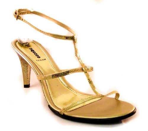 Adesso Italian made Gold party sandal
